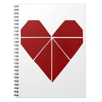 Origamiのハート ノートブック