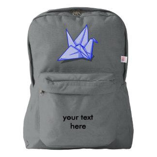 Origamiのフォルダーの紙クレーン American Apparel™バックパック