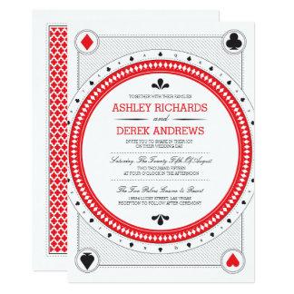 Origamiのプリントによるカジノの結婚式の招待 カード