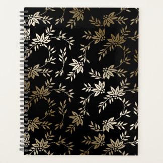 Origamiのプリントの紙のプランナーの黒の金ゴールド プランナー手帳