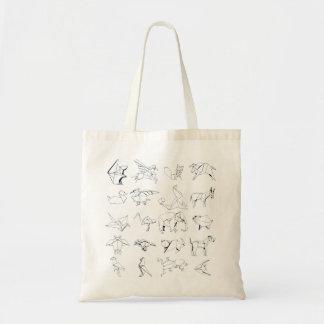 Origamiの動物群の世界 トートバッグ