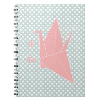 Origamiの平和クレーン ノートブック