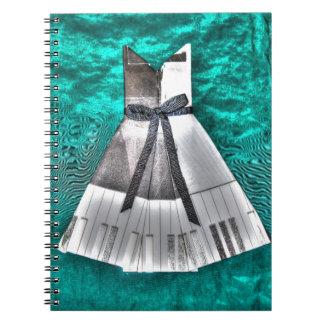 ORIGAMIの服音楽テーマの和紙の芸術 ノートブック