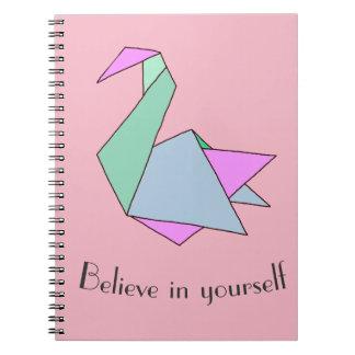 Origamiの白鳥 ノートブック