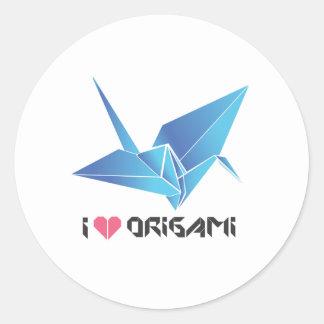 origamiの鳥 ラウンドシール