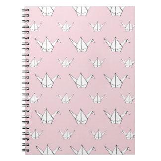 Origamiピンクのクレーン ノートブック