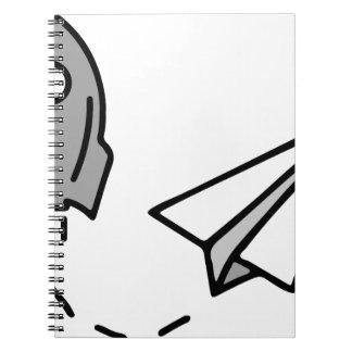 origamiロケットおよび紙飛行機 ノートブック
