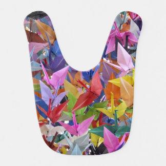 Origami 1,000のペーパークレーンベビー用ビブ ベビービブ