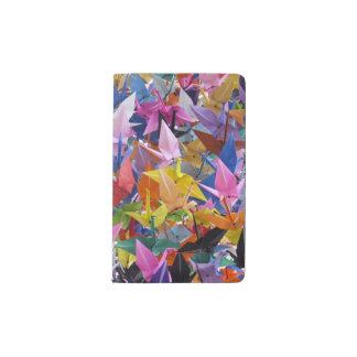 Origami 1,000のペーパークレーン写真 ポケットMoleskineノートブック