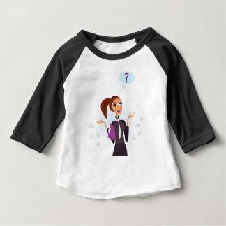 Original秘書の芸術のスケッチ ベビーTシャツ