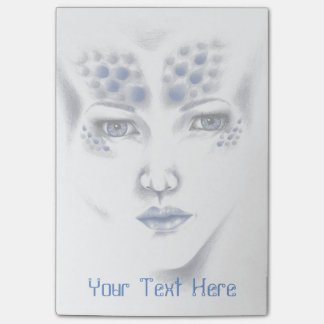 Original Art失敗の宇宙外国の女性付箋 ポストイット