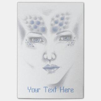 Original Art失敗の宇宙外国の女性付箋 ポスト・イット®ノート