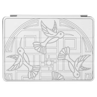 OrnaMENTALs #0021のハチドリ色あなた専有物 iPad Air カバー
