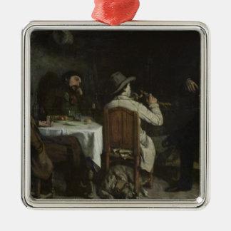 Ornansの夕食の後、1848年 メタルオーナメント
