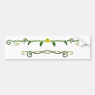 Orrnateのつる植物、葉及び花のバンパーステッカー バンパーステッカー