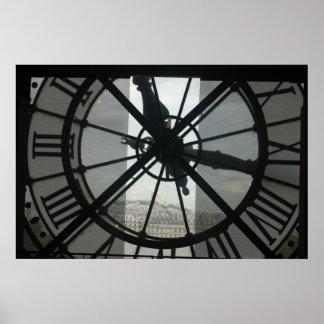 Orsayの時計のパリポスター ポスター