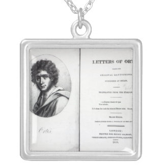「Ortisの手紙へのFrontispiece シルバープレートネックレス