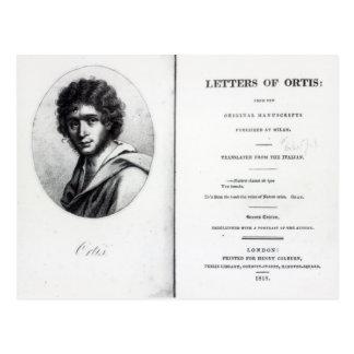 「Ortisの手紙へのFrontispiece ポストカード