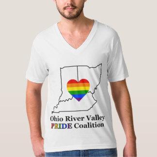 ORVのプライドメンズVNeckのティーの黒のロゴ Tシャツ