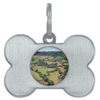 Orvieto、ウンブリア州、イタリアの美しい眺め ペットタグ