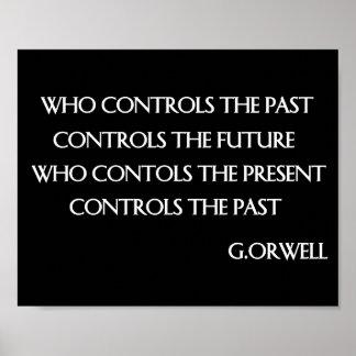 Orwellの引用文 ポスター