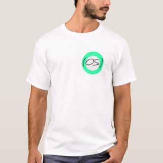 OS白いT Tシャツ