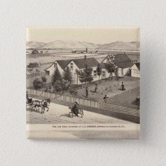 Osgoodのカメロンの住宅、農場 5.1cm 正方形バッジ