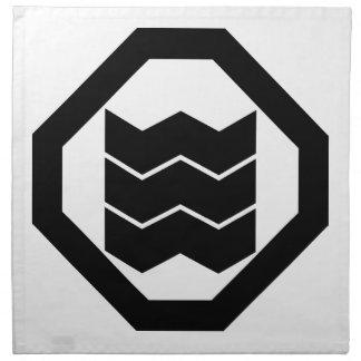 Oshikiの3のための収縮型の漢字 ナプキンクロス