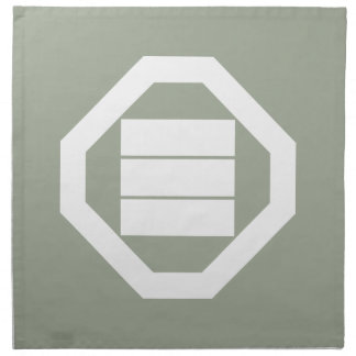 Oshikiの3のための正方形の漢字 ナプキンクロス