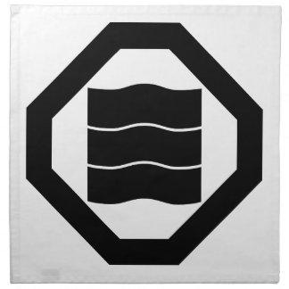 Oshikiの3のための波型の漢字 ナプキンクロス