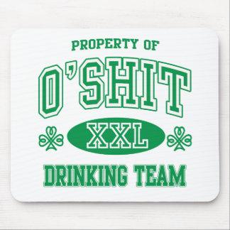 O'Shitのアイルランドの飲むチーム マウスパッド