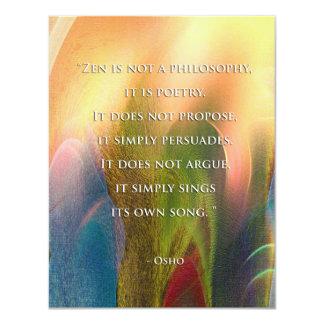 Oshoの禅の引用文の招待 カード