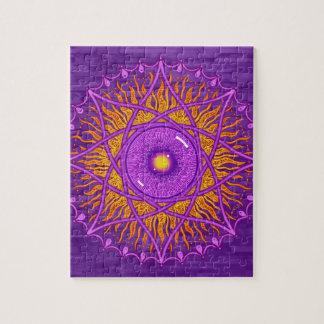 osholoの紫色の曼荼羅 ジグソーパズル