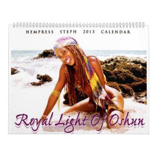 """""""Oshun""""の- 2013カレンダーの王室のなライト カレンダー"""