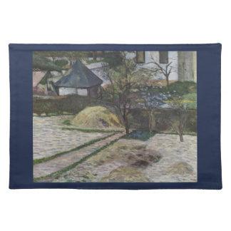 Osny -ポール・ゴーギャン(1881年)の景色 ランチョンマット