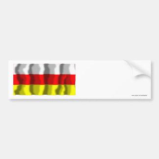 Ossetia-Alaniaの北の旗の共和国 バンパーステッカー