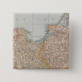 Ost u Westpreussen、東および西のプロシア 5.1cm 正方形バッジ