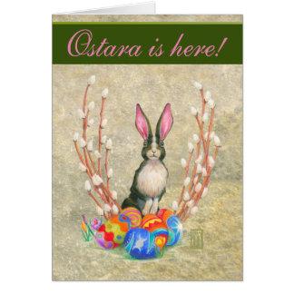 Ostaraのバニーの挨拶状 カード