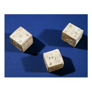 Osteriaのアクロポリスからの3つのサイコロ、 ポストカード