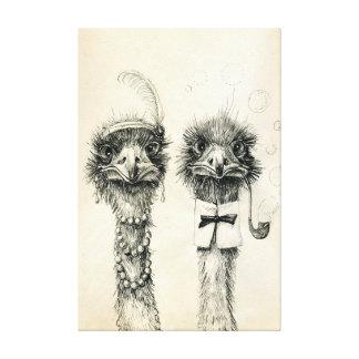 Ostrich氏および夫人 キャンバスプリント