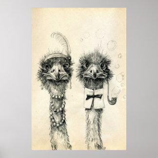 Ostrich氏および夫人 ポスター
