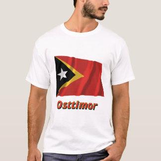 Osttimor Fliegende Flagge mit Namen Tシャツ