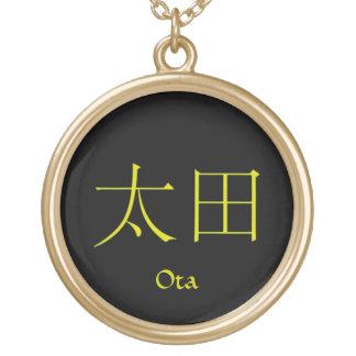 Otaのモノグラム ゴールドプレートネックレス
