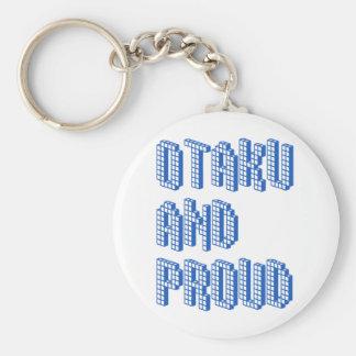 Otakuおよび誇りを持った-青 キーホルダー
