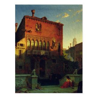 Othelloの家、ベニス1856年のムーア ポストカード