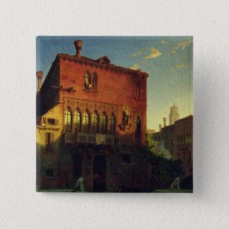 Othelloの家、ベニス1856年のムーア 5.1cm 正方形バッジ