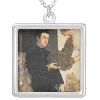 Ottavio Strada、宝石類のデザイナー シルバープレートネックレス