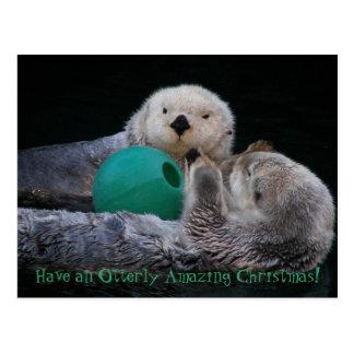 Otterlyのすばらしいラッコのクリスマスの休日 ポストカード
