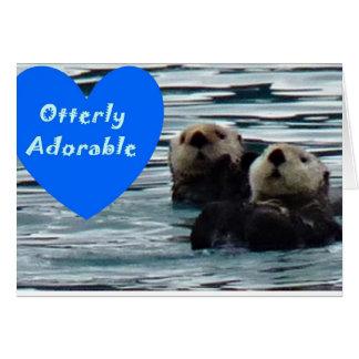 Otterlyの愛らしいラッコの挨拶状 カード