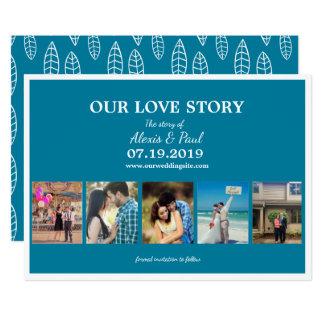 Our Love Story Custom Photo Collage 12.7 X 17.8 インビテーションカード